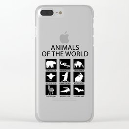RARE ANIMALS OF THE WORLD Clear iPhone Case
