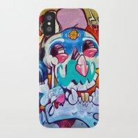 grafitti iPhone & iPod Cases featuring Grafitti Clown by Valann