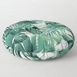 Tropical Jungle Leaves Siesta #5 #tropical #decor #art #society6 Floor Pillow