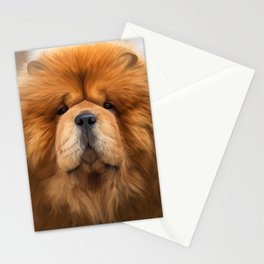 Drawing dog chow chow Stationery Cards