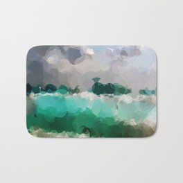 Blue Skies and Beach Geometrical Abstract Bath Mat