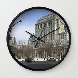 Crispy Montreal Morning 88 Wall Clock