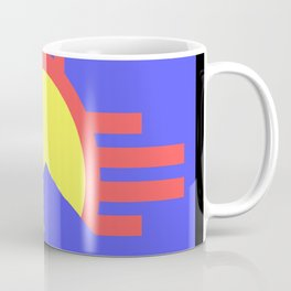 flag of Roswell with flying saucer Coffee Mug