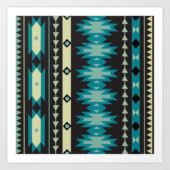 American Native Pattern No. 40 Art Print