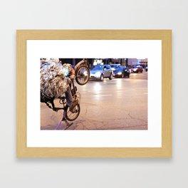 Performance Art on the Streets of Bucktown, Chicago 01 Framed Art Print