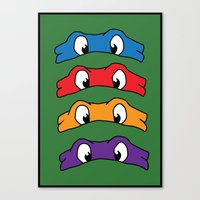 tmnt Canvas Prints featuring TMNT by Kaylabeaisaflea