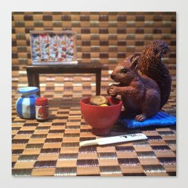 The Squirrel & The Sushi Sunday Canvas Print
