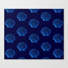 Blue Sea Shells Canvas Print