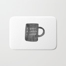 Morning Breakfast Coffee Mug Bath Mat