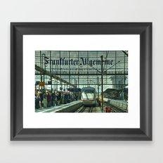 Frankfurt ICE Framed Art Print