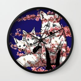 Spring Fox Wall Clock