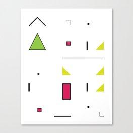 Geometric Storm: Take 6 Canvas Print