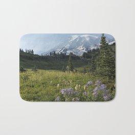 Wildflowers and Mount Rainier Bath Mat