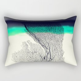 Modern Abstract Sea Coral Reef on Beach Background Rectangular Pillow