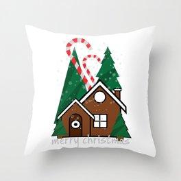 merry christmas vector illustration Throw Pillow