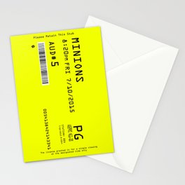 Minion Movie Ticket Stationery Cards