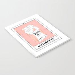 the cigarette tarot card Notebook