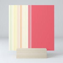 Signature Stripes // Sherbert Mini Art Print