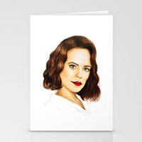 agent carter Stationery Cards featuring Agent Carter by Olivia Nicholls-Bates