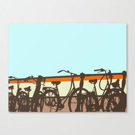 On your bike (Blue & Orange) Canvas Print