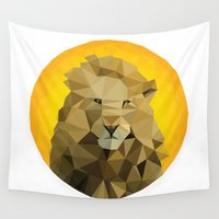 lions Wall Tapestries featuring ♥ SAVE THE LIONS ♥ by ℳixed ℱeelings