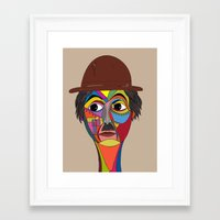 charlie chaplin Framed Art Prints featuring Charlie Chaplin by JeeArt