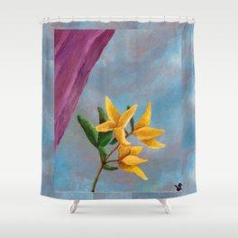 Victorian Forsythia Shower Curtain