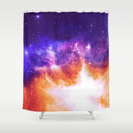 Stars & Flames Shower Curtain