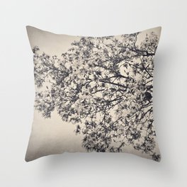 Tree in Bloom Throw Pillow