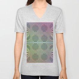 Deformed dots rainbow pattern Unisex V-Neck