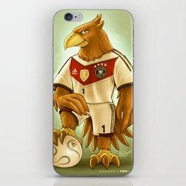Paule, Germany Football Eagle Mascot iPhone Skin