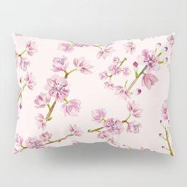 Spring Flowers - Pink Cherry Blossom Pattern Pillow Sham