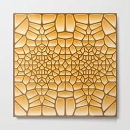 Pure Gold Voronoi Metal Print
