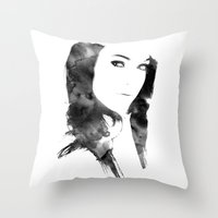 poetry Throw Pillows featuring POETRY by Andrea De Amicis aka CONETTO