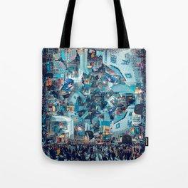 Shibuya Crossing, Repeating Mosaic Pattern 49 Tote Bag