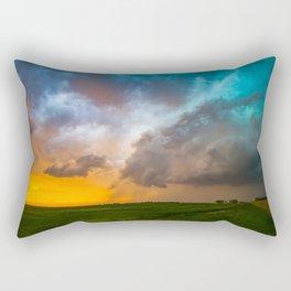 Glorious - Stormy Sky and Kansas Sunset Rectangular Pillow