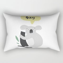 Hey Koala Rectangular Pillow