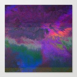 66-63-18 (Universe Rising Glitch) Canvas Print