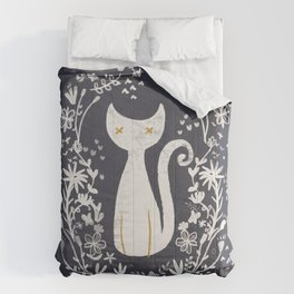 abstract kitty Comforters