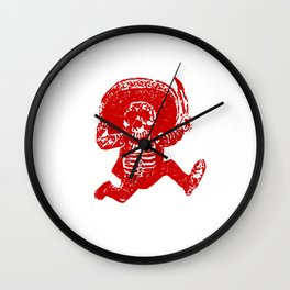 Pirate Skeleton Holding Dagger Wall Clock