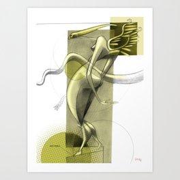 De los vuelos   Of flights { n°_ 007 } Art Print