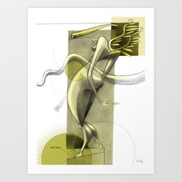 De los vuelos | Of flights { n°_ 007 } Art Print