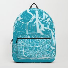 Hamburg Map | Germany | Aqua | More Colors Backpack
