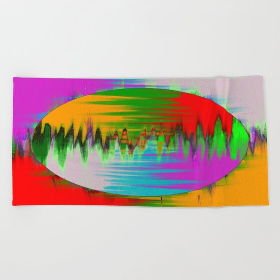 Colour Interference - Abstract colour painting Beach Towel
