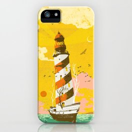 LIGHTHOUSE SHIP iPhone Case