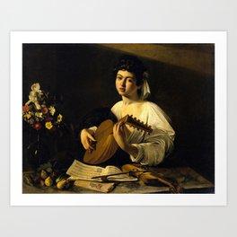 """Michelangelo Merisi da Caravaggio """"The Lute Player"""" Art Print"""