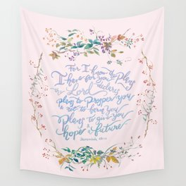 Give You Hope - Jeremiah 29:11 Wall Tapestry