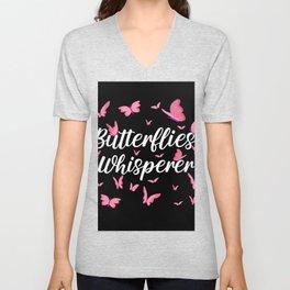 Butterflies whisperer Unisex V-Neck