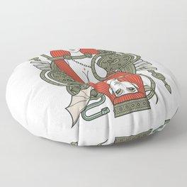 SINS Mentis - Lust Queen of Hearts Floor Pillow
