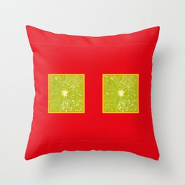 Lime Eyes – Strange Fruits Throw Pillow
